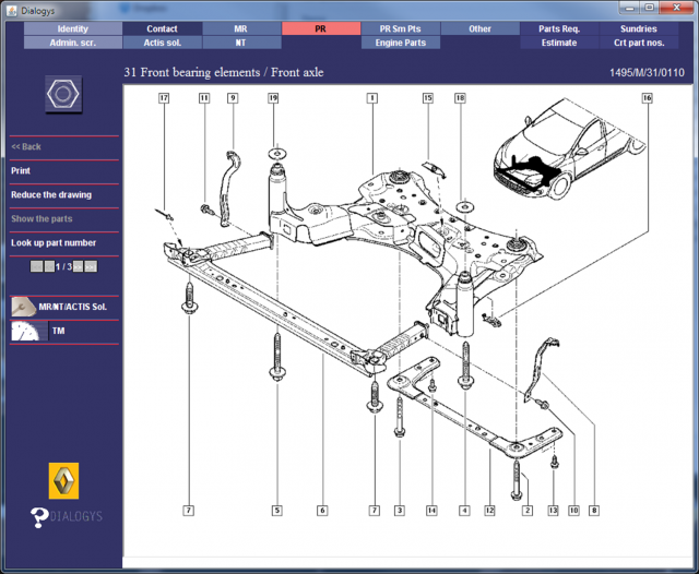 Renault Megane Gt220 Front Suspension Parts Diagrams 1